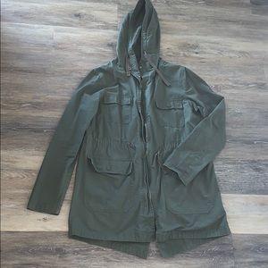 Love Tree Olive Green Lightweight Utility Jacket